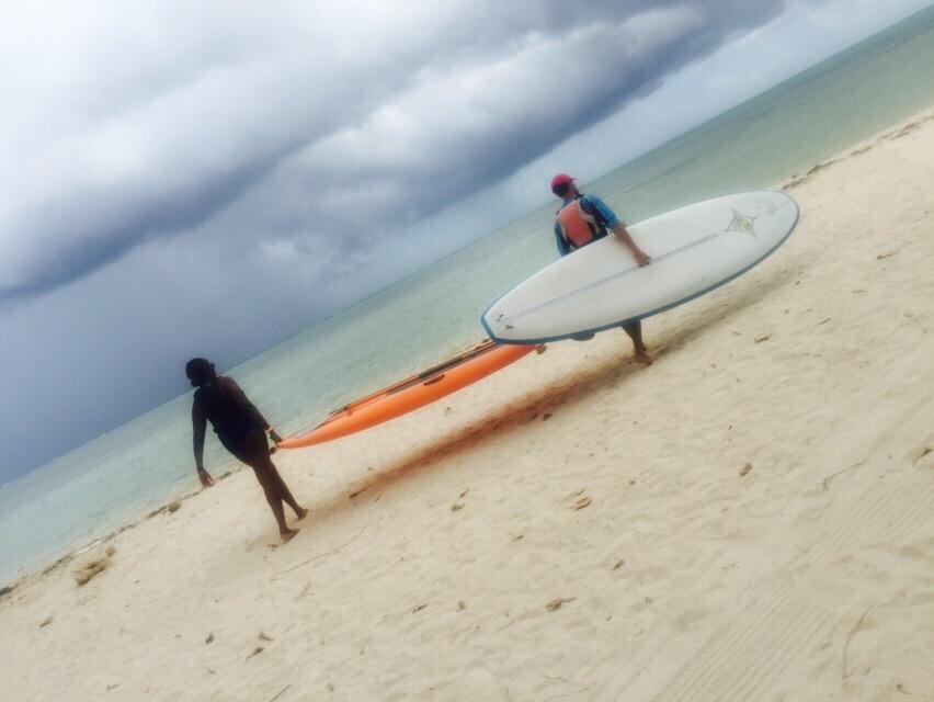 surfing walk