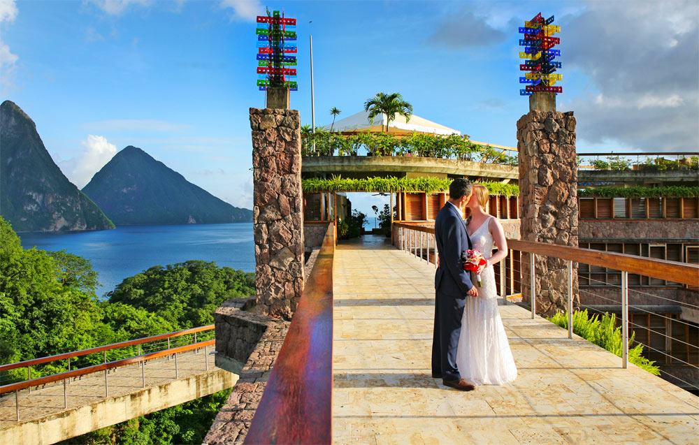 Jade Mountain Saint Lucia wedding